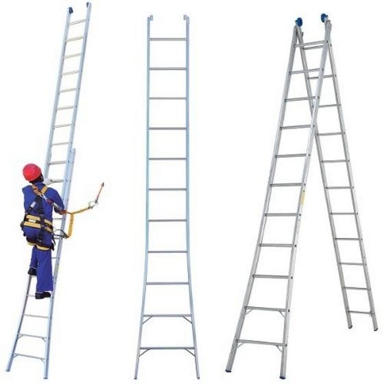Locação de Escada Extensiva de Alumínio 24 Degraus Bairro do Limão - Escada Extensiva de Alumínio